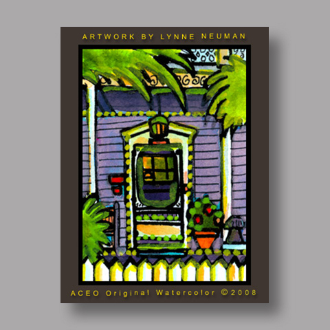 Signed ACEO Print *Key West #2173* by Lynne Neuman