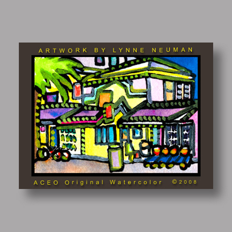Signed ACEO Print *Key West Florida #2372* by Lynne Neuman