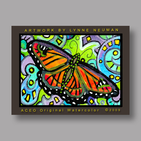 Signed ACEO Print *Monarch Butterfly #2665* by Lynne Neuman