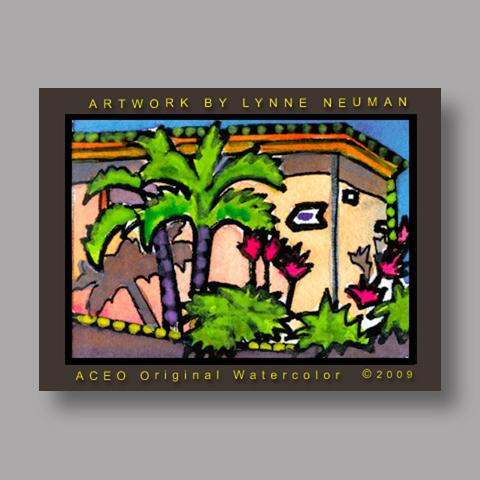 Signed ACEO *Nerita Beach Condo Sanibel Florida #2912* by Lynne Neuman