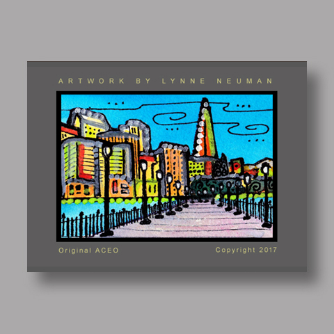Signed ACEO Print *San Francisco California #4219* by Lynne Neuman