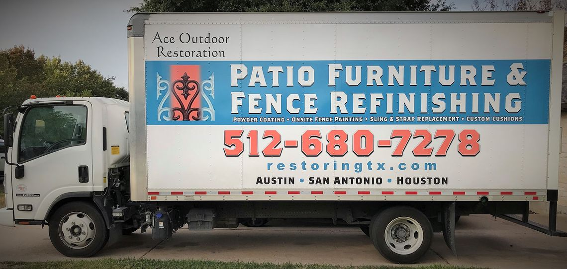 outdoor furniture fence refinishing