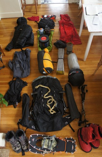 Winter camping contents.