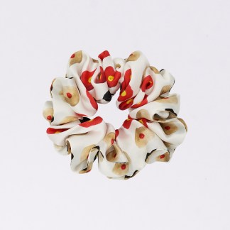 Acephala Silk Scrunchie Small Tities White N