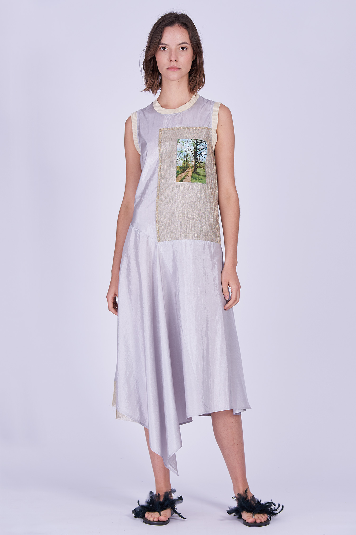 Acephala Ss2020 Sleeveless Summer Dress Letnia Sukienka Front 2