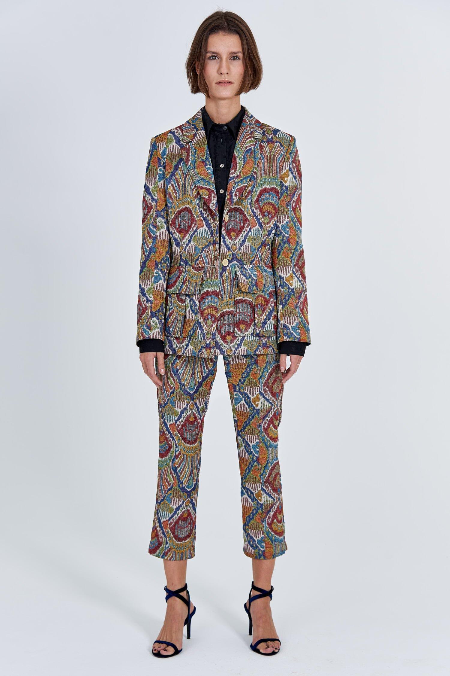 Acephala Fw 2020 21 Jacquard Suit Jacket Front