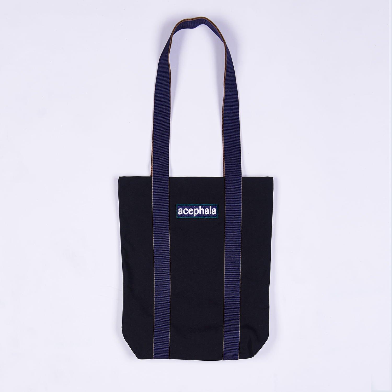 Acephala Fw20 Black Tote Bag With Logo