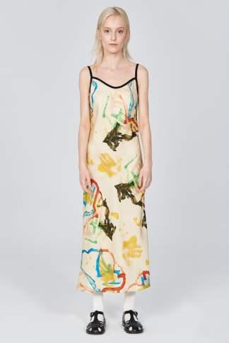 Acephala Ss21 Printed Slip Dress Front