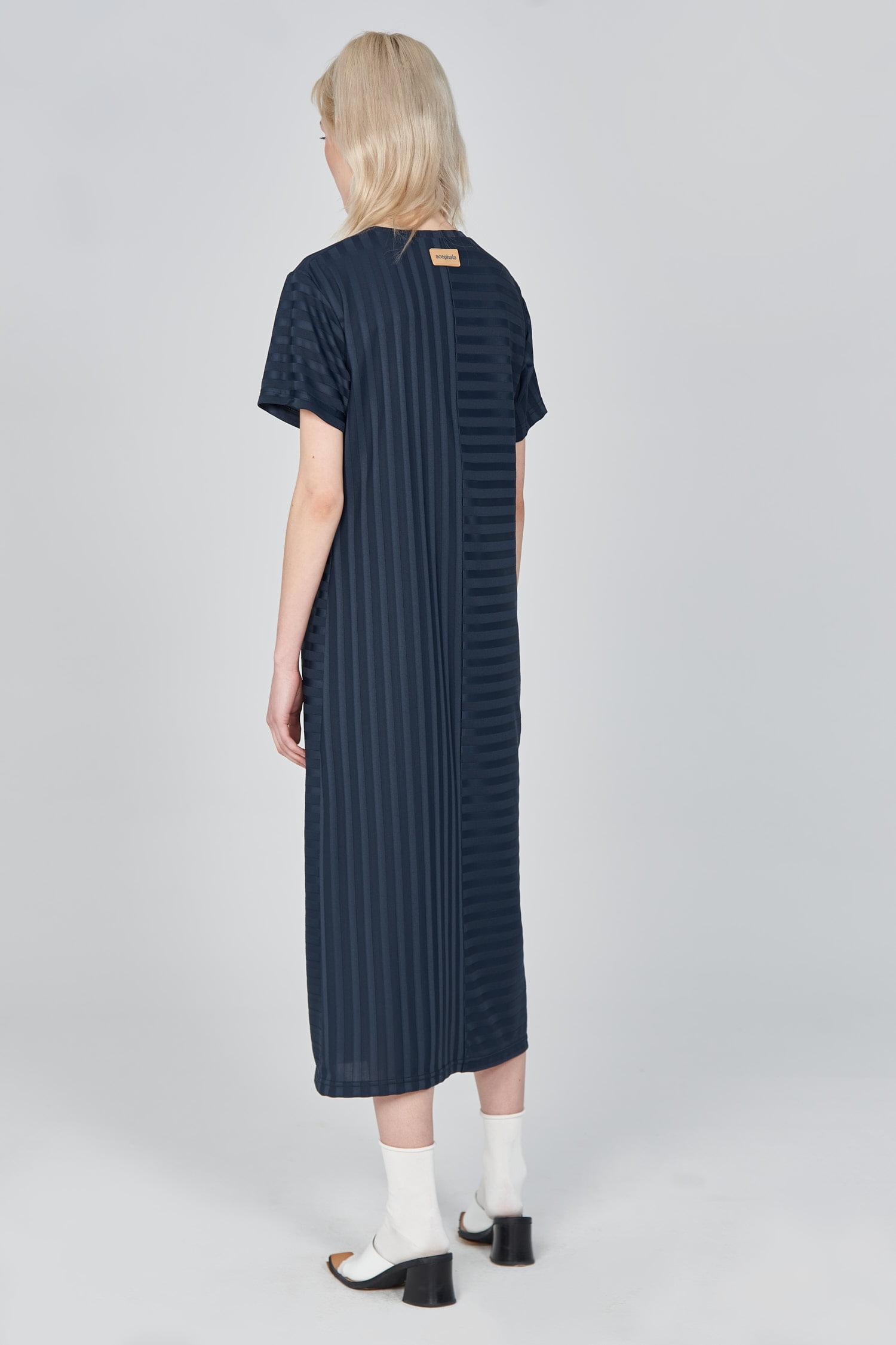 Acephala Ss21 Ribbed T Shirt Dress Back Side