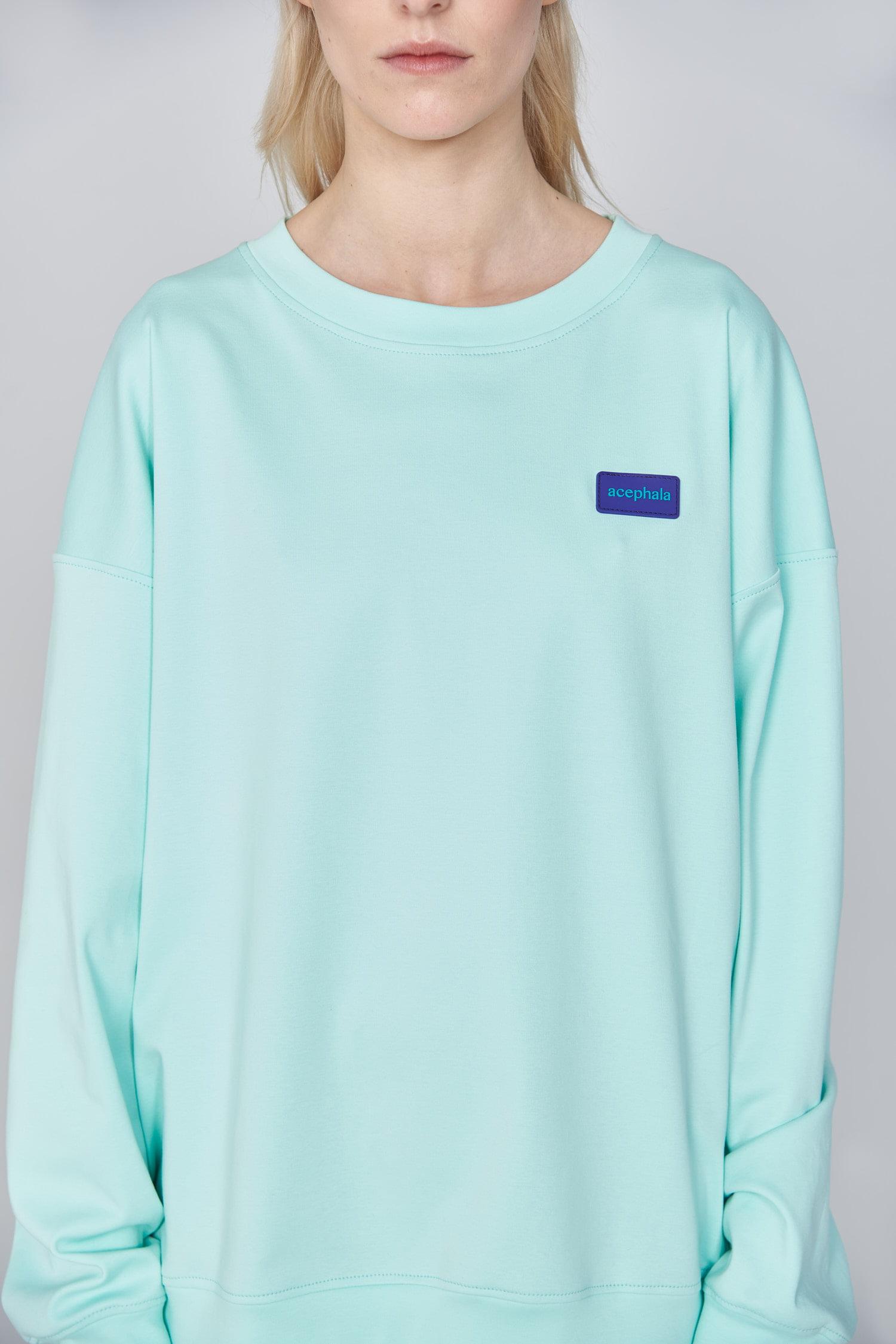 Acephala Ss21 Unisex Mint Sweatshirt Detail