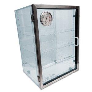 Gabinete desecador Modelo DV-1003 deposición vertical con termohigrómetro análogo