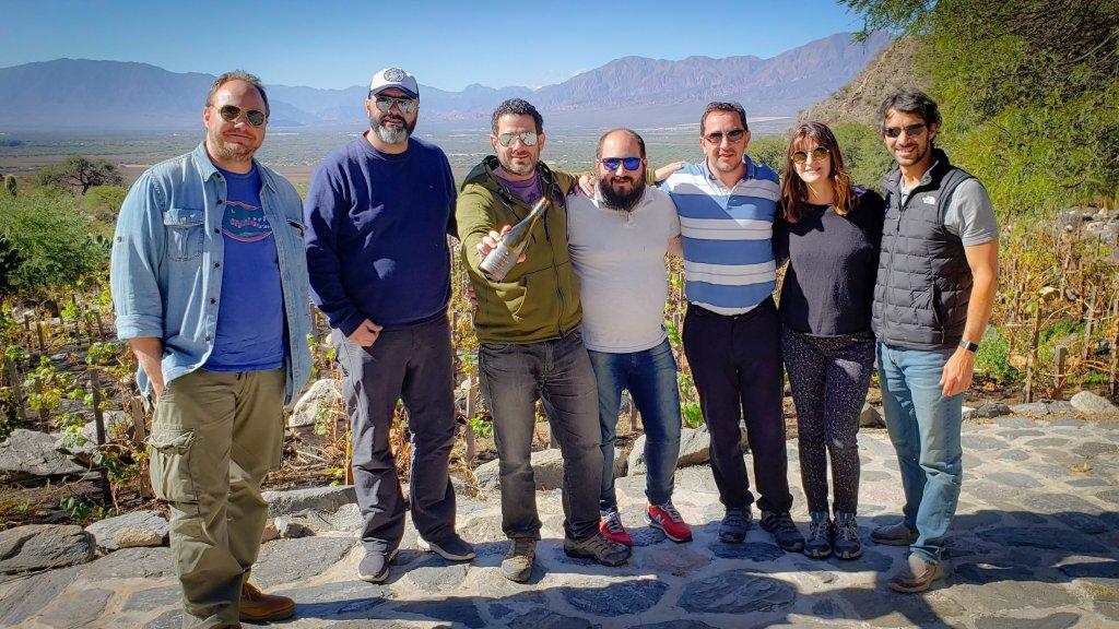 Francisco Rivero Segura, Matias Sztabsyn, Raúl Demaría, Paco Puga, Lucía Romero, Daniel Guillén y yo.