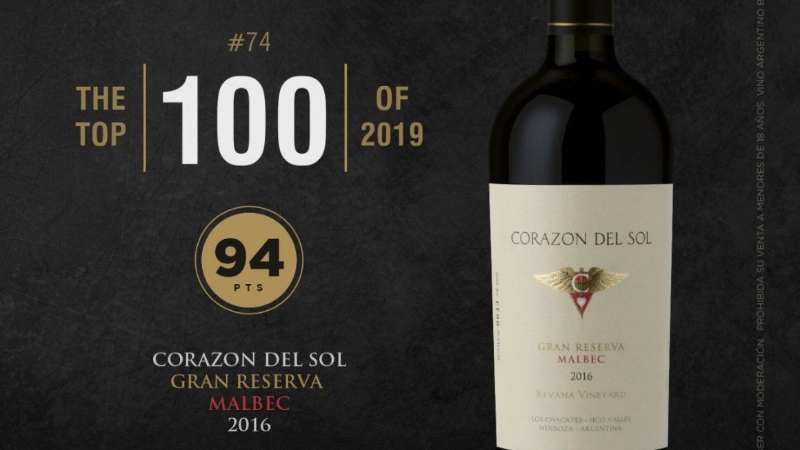 Corazón del Sol Gran Reserva Malbec 2016, mejor vino argentino según Wine Spectator 2