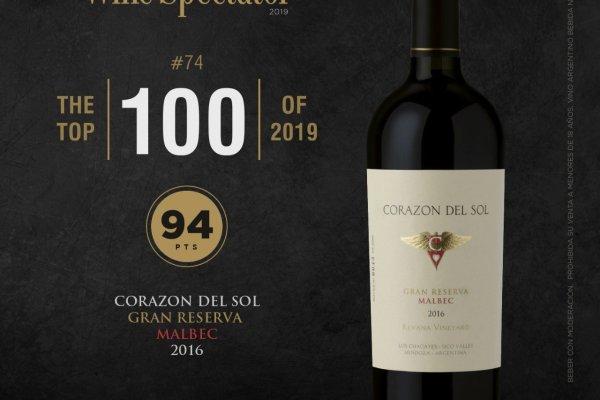 Corazón del Sol Gran Reserva Malbec 2016, mejor vino argentino según Wine Spectator