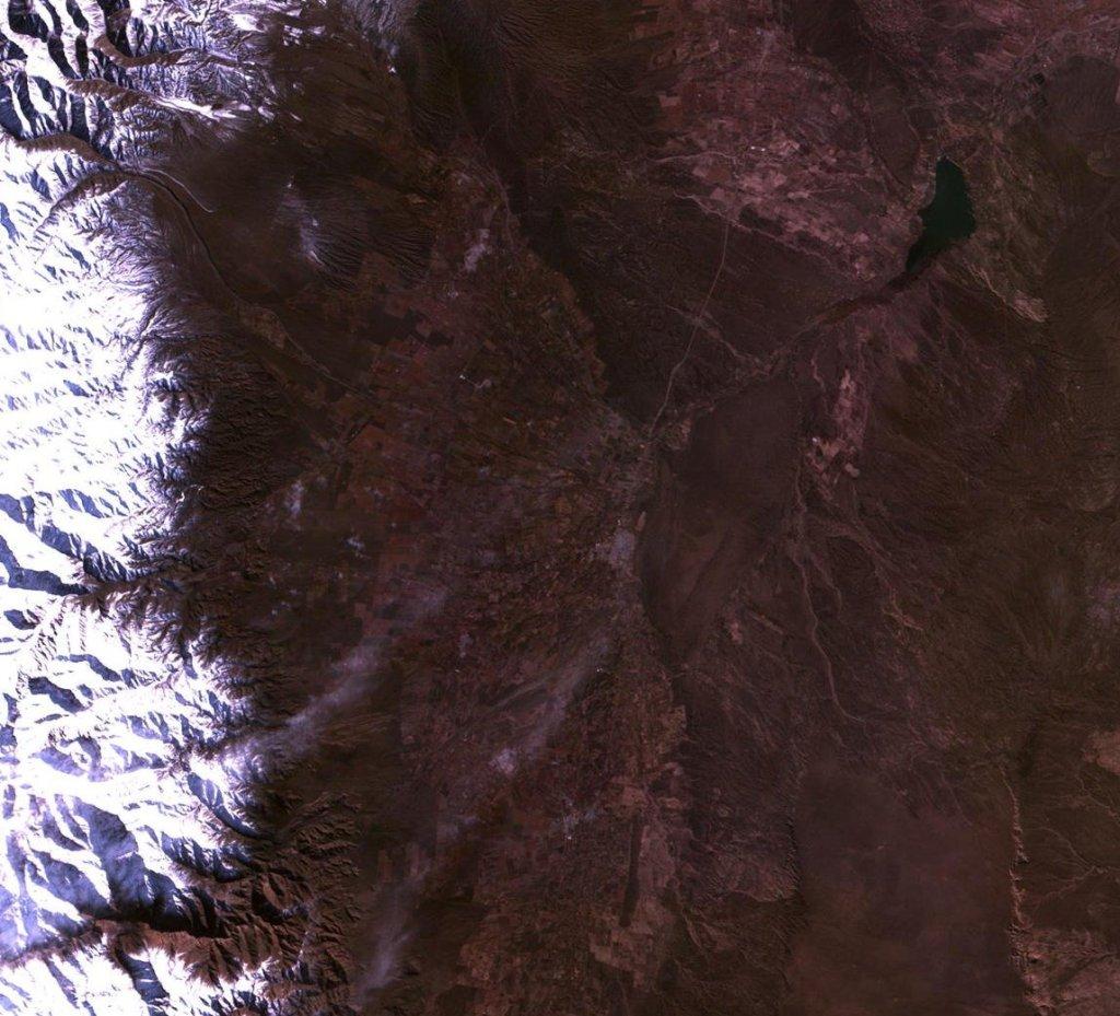 Nieve en los viñedos - Imagen de la Cordillera de los Andes el 30 de junio antes de la nevada (Foto: CBERS-4)