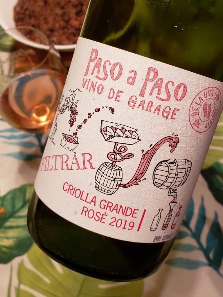Paso a Paso rosé de criolla grande - vinos de productores amigos
