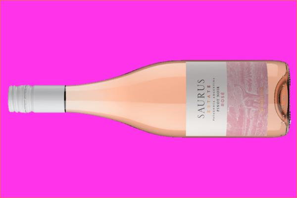 Septiembre se escribe con S de Saurus Estate y lleva P de Pinot Noir Rosé 2020