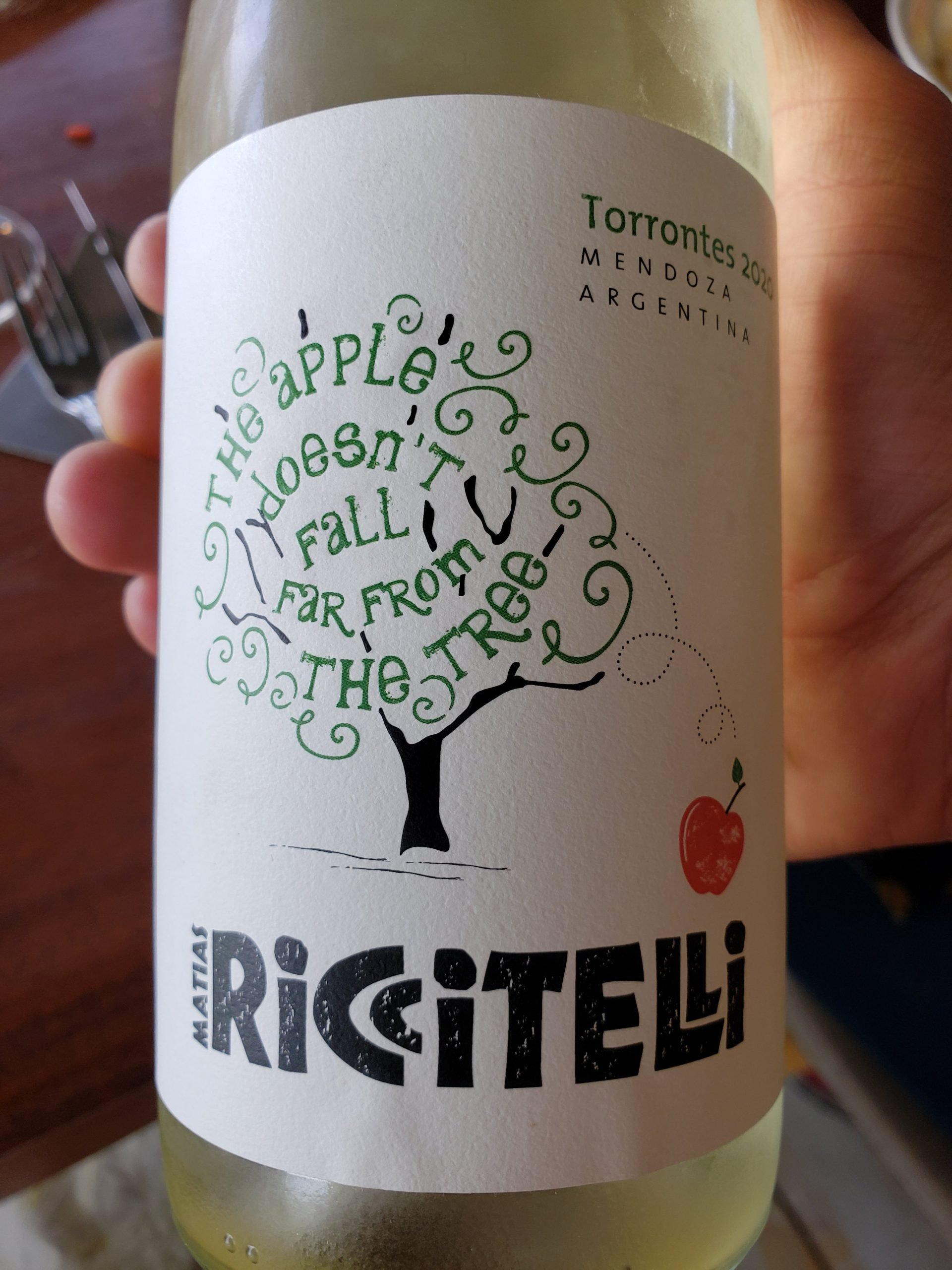 Riccitelli Bistró - Riccitelli Wines - Matías Riccitelli - The Apple Torrontés 2020