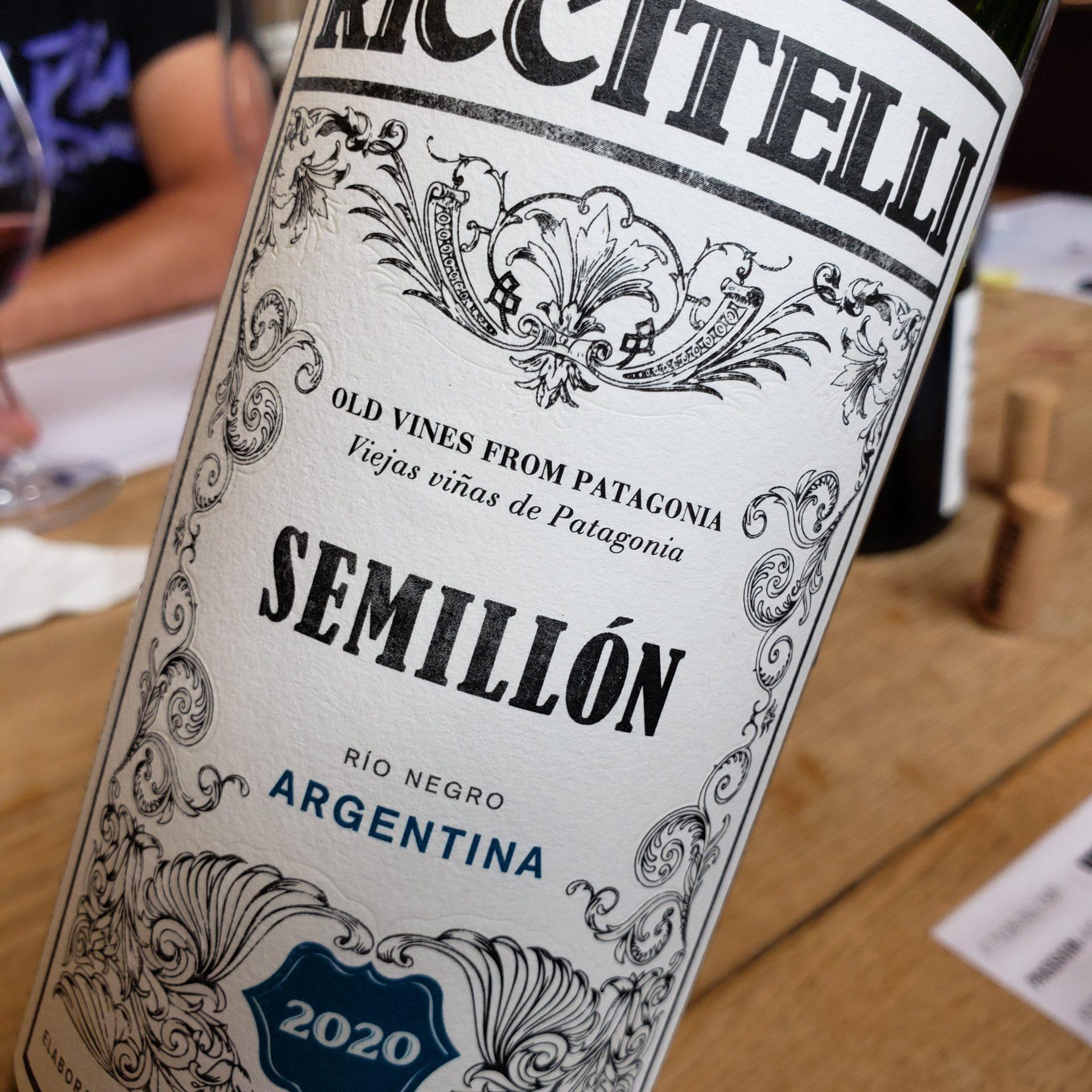 Riccitelli Bistró - Riccitelli Wines - Matías Riccitelli - Riccitelli Old Vines From Patagonia Semillón 2020