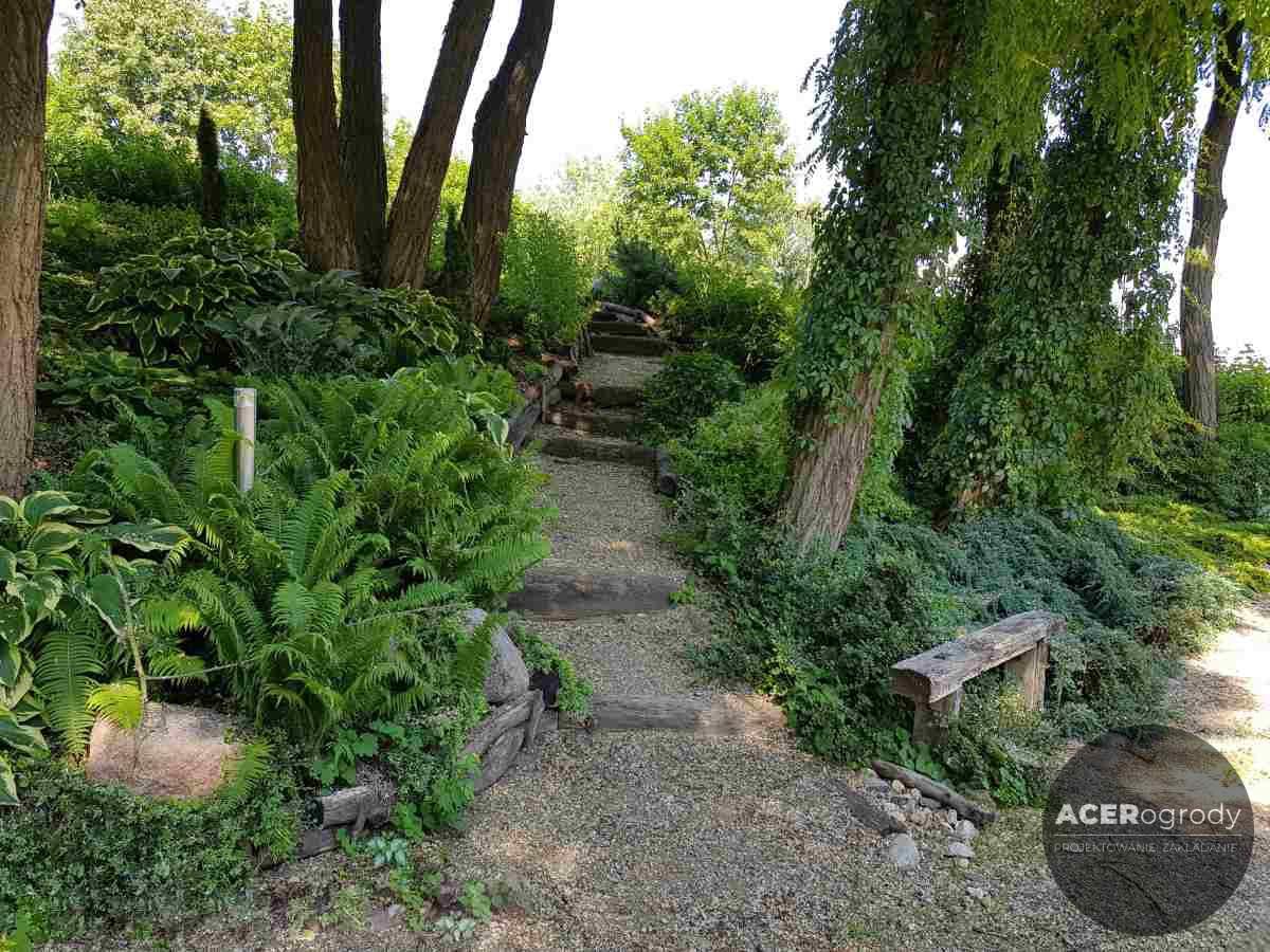 ogród lesny