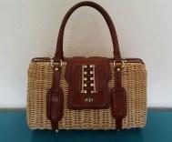 1950s wicker bag