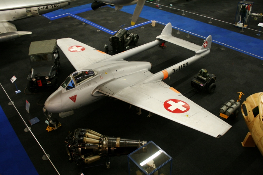 Swiss Air Force Centre: de Havilland DH.100 Vampire – The First Swiss Jet Fighter
