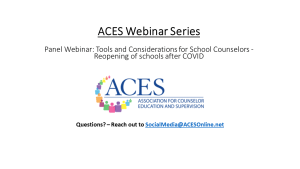 Panel Webinar_ Tools and Considerations for School Counselors - Reopening of schools after COVID