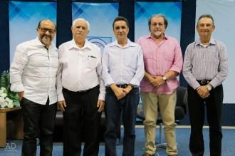 Presidentes da ACES: Roberto Branco, Ivair Chaves, Alberto Oliveira, Renato Dantas e Marcelo Moura