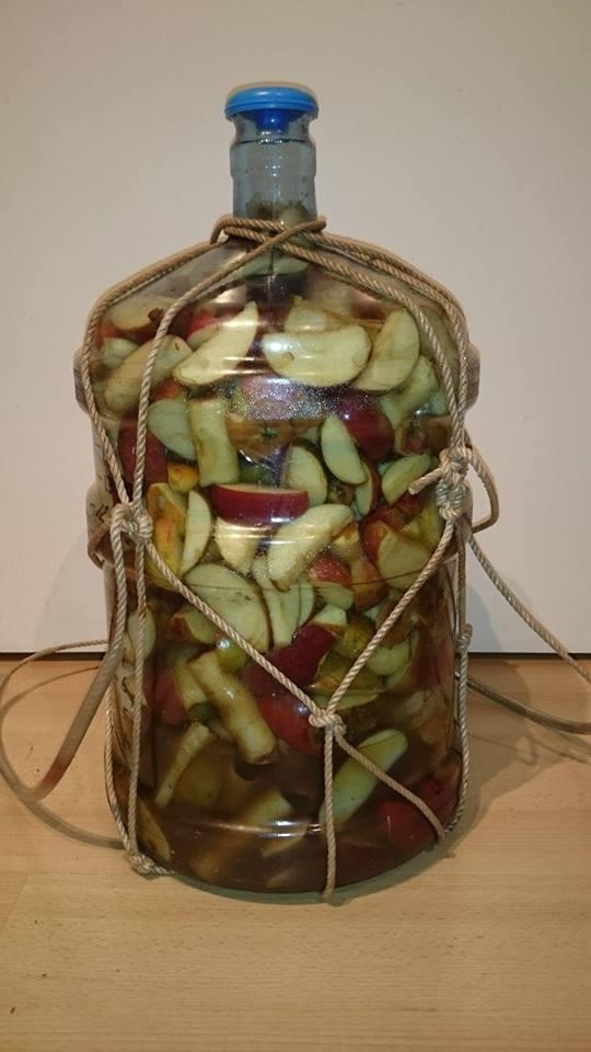 Het hele vat vol met appels