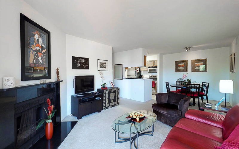 ParcReston Condo Unit J - Open Living Area
