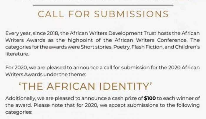 African Writers Award 2020