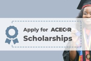 World Bank ACECoR Scholarship 2020/2021 for Young African Scholars