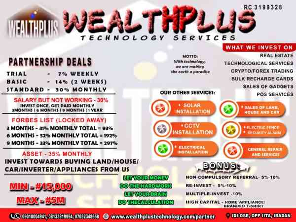 Stable Income: Partner and Earn with WealthPlus Tech Services