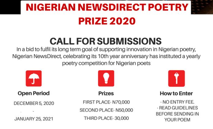 Nigerian Newsdirect Poetry Prize 2020