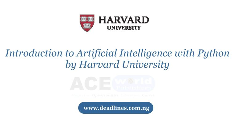 Introduction to Artificial Intelligence with Python by Harvard University