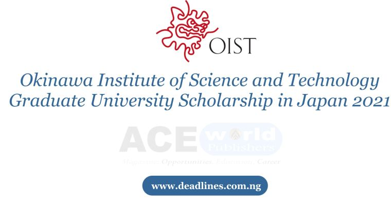 Okinawa Institute of Science and Technology Graduate University Scholarship in Japan 2021
