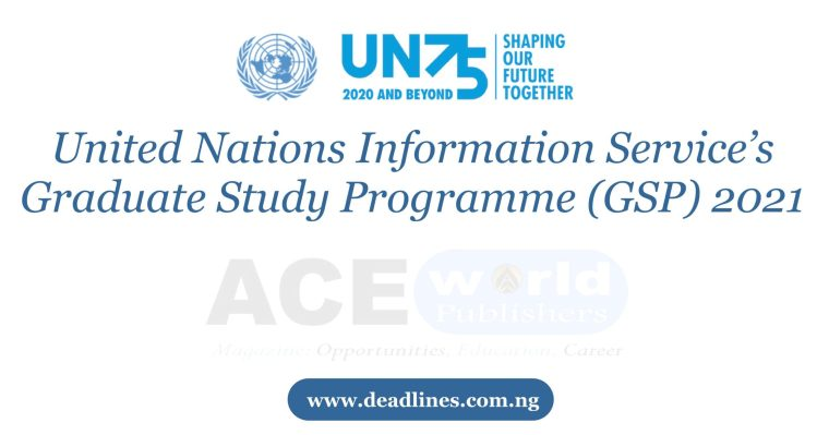 United Nations Information Service's Graduate Study Programme (GSP) 2021