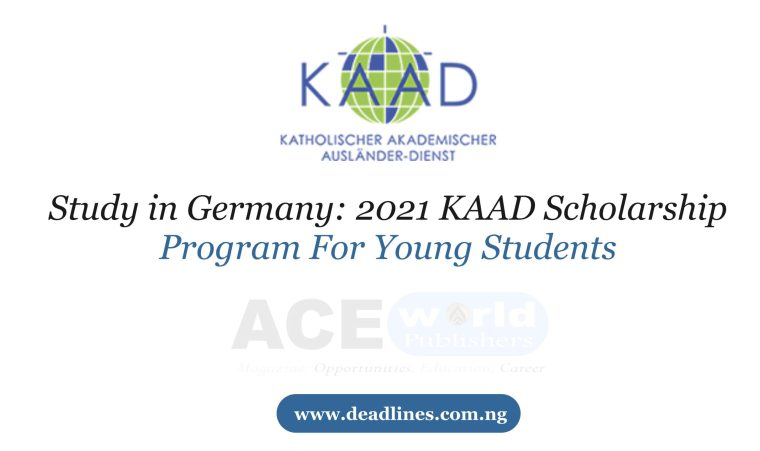 2021 KAAD Scholarship Program For Young Students