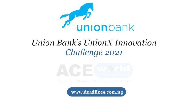 Union Bank's UnionX Innovation Challenge 2021