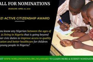 Active Citizenship in Nigeria Award (ACNA) 2021