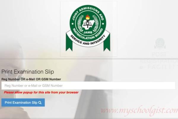 How to Re-Print JAMB Examination Slip 2021