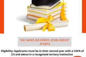 The Sweet Sensation Full Scholarship Scheme 2021