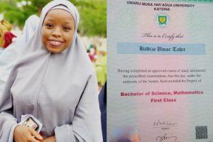 Katsina lady bags 1st class in BSc Mathematics from UMYUK