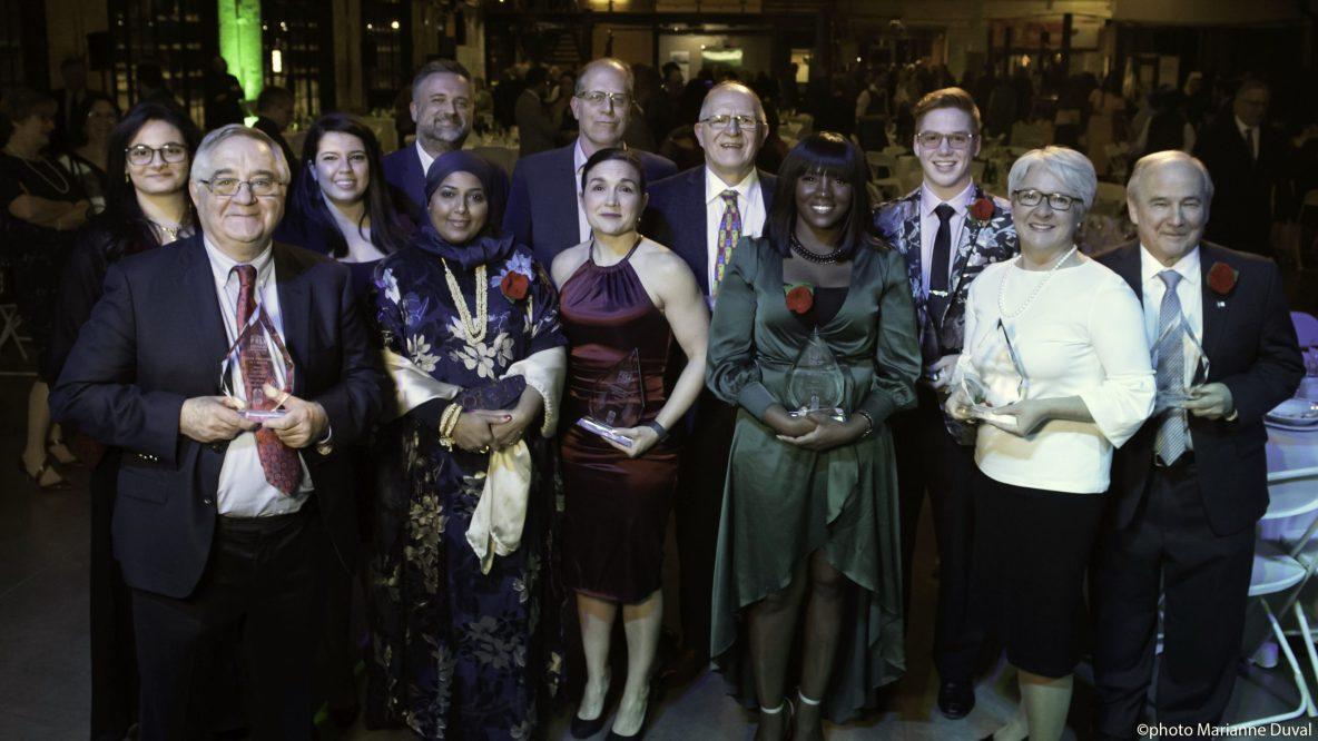 Gala -Prix Bernard Grandmaître photo de groupe des récipiendaires