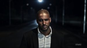 Ricky Whittle as Shadow Moon, lost soul in a lost nation.