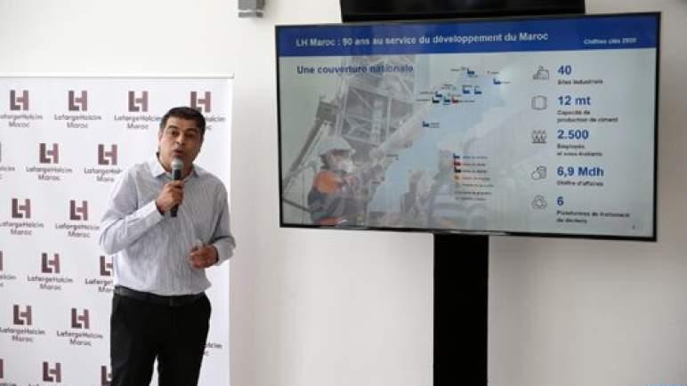 """نجيب ريبي: مصنع """"لافارج هولسيم"""" المغرب بسطات ثاني أفضل مصانع المجموعة أداء وفعالية على الصعيد العالمي"""