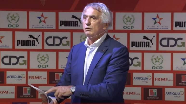 حاليلوزيتش: المنتخب المغربي عازم على مواصلة سلسلة الانتصارات بالفوز على غينيا