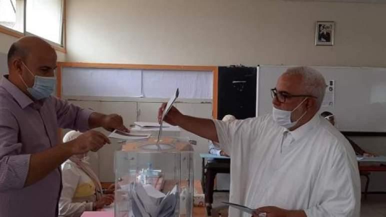 بنكيران وبركة يدليان بصوتيهما في الانتخابات