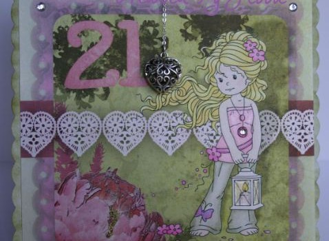 Spring themed 21st card