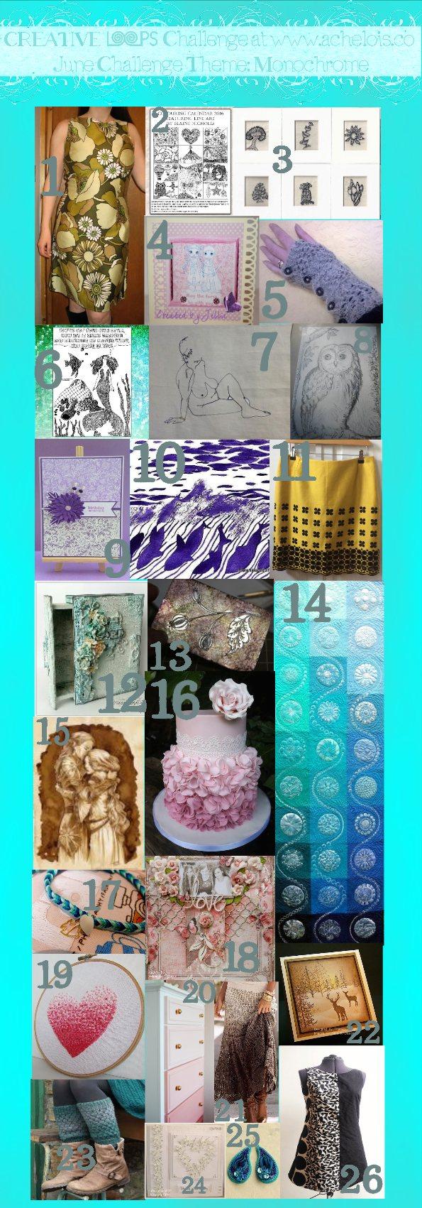 Inspiration creative loops challenge monochrome